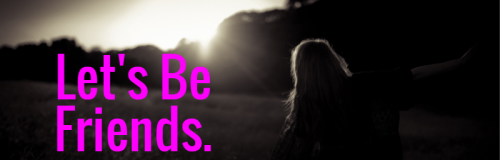 Let's Be Friends Banner